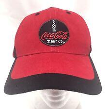 Coca Cola Coke Zero Hat Red Black Raceway Promo Baseball Cap Slideback