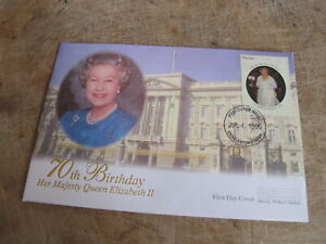 1996 Cover/ FDC - Nevis Isle - Queen's 70th Birthday - Royal interest - V2