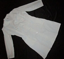 Halloween Costume Women Dr Lab Coat or Nurse Dress White Sz Large  # 1208