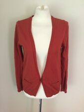MAISON SCOTCH La Femme Salon Marie Cardigan Sweater W/ Sheer Back Size 2 M Rust