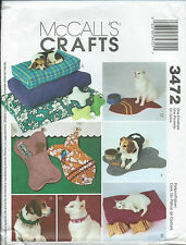 M 3472 sewing pattern DOG CAT PET Accessories sew S,M,L BED Fish Bone MAT PILLOW