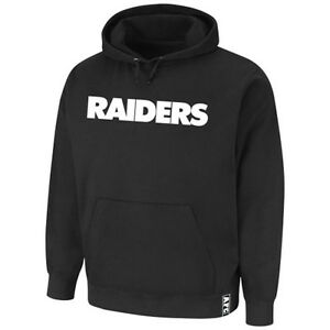 Oakland Raiders MENS Sweatshirt Classic Heavyweight Pullover Hood Black Majestic