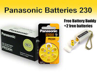 Panasonic Hearing Aid Batteries Size 10 + Free Battery Buddy