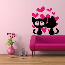 00683 Wall stickers Adesivi murali Gattini innamorati 60x63 cm