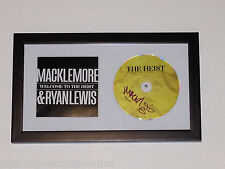 MACKLEMORE & RYAN LEWIS HAND SIGNED FRAMED AUTHENTIC CD w/COA THE HEIST SEATTLE