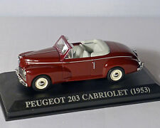 Peugeot 203 Cabriolet Dark Red, IXO, 1:43