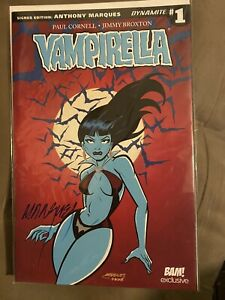 Vampirella #1 Dynamite Signed by Anthony Marques BAM! Box Exclusive COA - Sealed