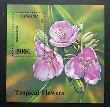 Tanzania Tropical Flowers 1994 Flora Plant Orchid (miniature sheet) MNH