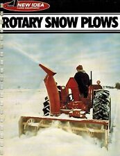 NEW IDEA 516A 517 518 ROTARY SNOW PLOWS  SPECIFICATIONS and SALES BROCHURE