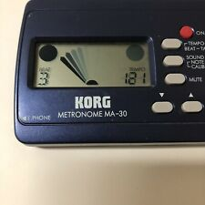 Korg Ma-30 Compact Digital Pocket Metronome Music Tuner Blue Tested