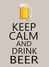 Keep Calm and Drink Beer STICKER DECAL VINYL BUMPER CAR Wall Locker Notebook