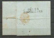 1808 Lettre Marque Linéaire DEB.24 Pontarlier DOUBS(24) Indice 17 X2426