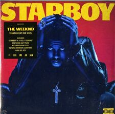 THE WEEKND STARBOY DOPPIO VINILE LP TRANSLUCENT RED VINYL NUOVO SIGILLATO
