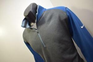 Nike Golf Jacket Dri Fit Tour Performance Gray Zip Neck Mens Sz Large