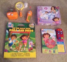 Dora the Explorer/Go Diego Go Lot - Puzzle, Storybook, Interactive DVD, Bug Set