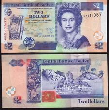 Belize 2 Dollar 2014 Mint Unc P66e