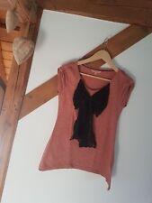 ஐƸ̵̡Ӝ̵̨̄Ʒஐ Review Collection leichtes T-Shirt Schleife Gr.M rose meliert Spitze