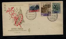 San Marino  C72-74  Veneita first day cover  1950          MS0820