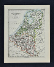 1895 Johnston Map - Holland Belgium Luxemburg & Amsterdam Brussels Netherlands