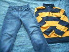 Boys Lot size 10 Gap Fleece and Wrangler Adjustable Waist Jeans in Euc Back to S