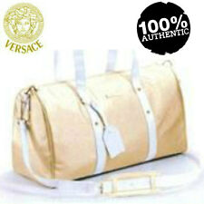 100% AUTHENTIC LARGE VERSACE GOLD COUTURE Overnight~Weekend~Luggage~Travel BAG