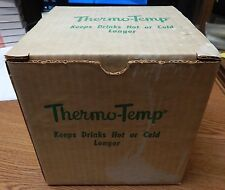 8) OLD THERMO-TEMP RAFFIAWARE CUPS NEW IN BOX UNUSED LQQK