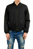 Versace Jeans Men's Black Full Zip Bomber Light Jacket US S IT 48