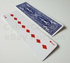 LONG CARD GAFF PLAYING CARDS 3 TO 8 DIAMONDS COMEDY MAGIC STRETCH TRICK GAG NEW