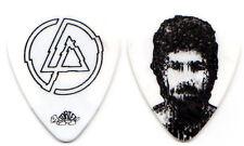 LINKIN PARK Guitar Pick : 2010 Tour - LP Brad Delson white picture