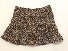 "Gymboree ""Glamour Kitty"" Vtg Brushed Cotton Leopard Print Pleated Skort/Skirt 12"