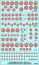 TAURO MODEL DECALS TM72/501 COCCARDE A.M.I. SCALA 1/72