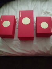 Lot Of 11 Red Empty Boxes 3 Sizes