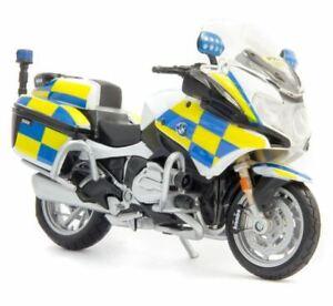 BMW POLICE MOTORBIKE R1200 RT 1:18 Scale Model Toy Bike Miniature Emergency
