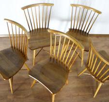 1/5 VINTAGE Stuhl Streben Sprossen ROCKABILLY CHAIR Küchen MID CENTURY (6775)