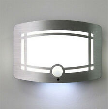 LED Wireless Light-operated PIR Motion Sensor Battery Power Wall Lights Lamps