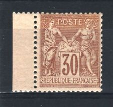"FRANCE STAMP TIMBRE N° 80 "" TYPE SAGE 30c BRUN-JAUNE 1881 "" NEUF xx TTB  R533"