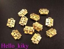 100Pcs Antiqued gold plt cross bottle bead 9x7mm A77
