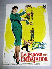 AMBASSADORS WIFE Original Vintage Movie Poster CATERINA VALENTE GERHARD RIEDMANN