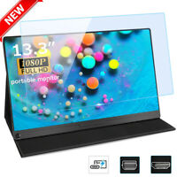 """Portable 13.3"""" IPS 1080P HDR Screen Monitor Mini For HD USB-C Type-C Brand New"""