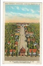 Vintage Postcard Philadelphia PA Sesqui Centennial Expo 1926 High Street Women's