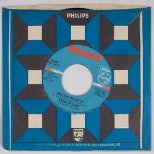 BRIAN HYLAND: Run, Run, Look And See / Why Did You Do It 60s Pop Rock 45 NM-