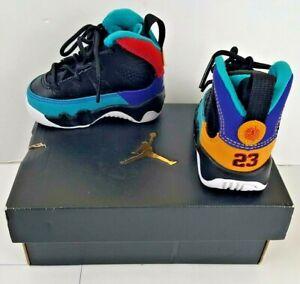 Air Jordan 9 Retro TD High Top Sneaker Toddler Baby 2C 401812-065 Dream It Do It
