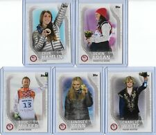 COMPLETE 2018 TOPPS OLYMPIC PODIUM IMAGE 10 CARD SET ~ GRACIE GOLD  LINDSEY VONN