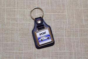Ford Escort Mk2 1300 1600 Sport Keyring - Leatherette & Chrome Keyfob
