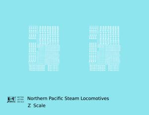 K4 Z Decals Northern Pacific Steam Locomotive White