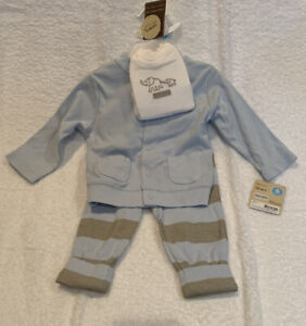 CARTER'S Baby BOY'S 3-PIECE SET  - 6 months - NEW With Tags-Onesy ,pants, top