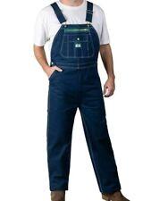 Big Men's Liberty Bib carpenter Jeans Overalls Work Bibs Dark Wash 40 x 30