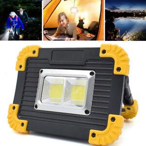 20W USB Akku LED Strahler Arbeitsleuchte Baustrahler Handlampe Flutlicht Fluter