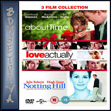 ABOUT TIME / LOVE ACTUALLY / NOTTING HILL - 3 FILMS **BRAND NEW DVD BOXSET ***