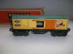 LIONEL TRAIN PREWAR BOX CAR 2679 W/ NEW TRUCKS